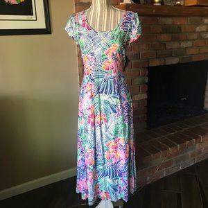 Jams World Palmeria Tropical Floral Dress XS
